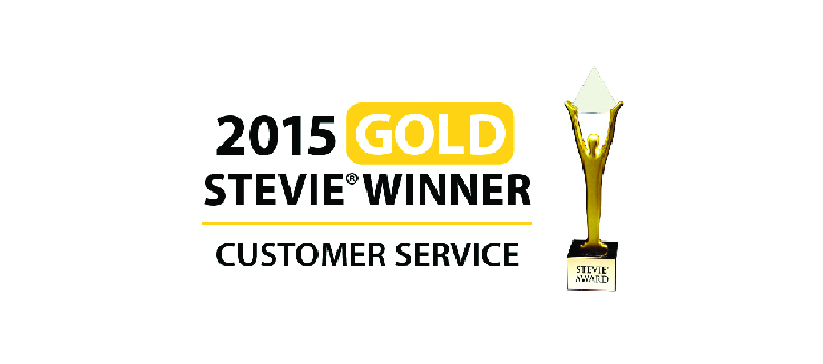 2015 Stevie Winner Customer Service Award