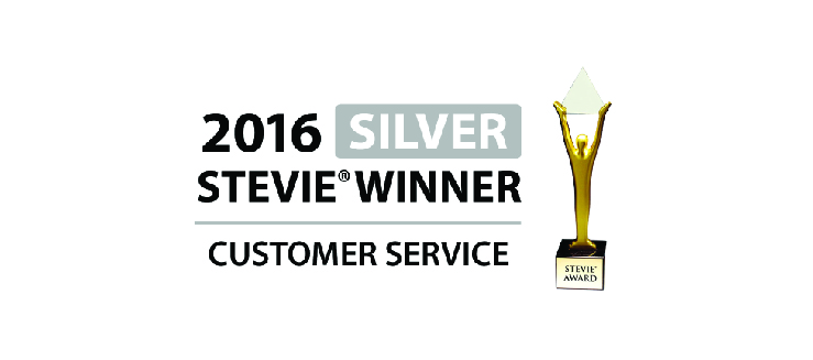 2016 Stevie Winner Customer Service Award