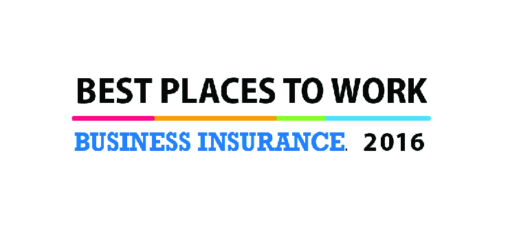 Best Place to Work - Business Insurance 2016 Award